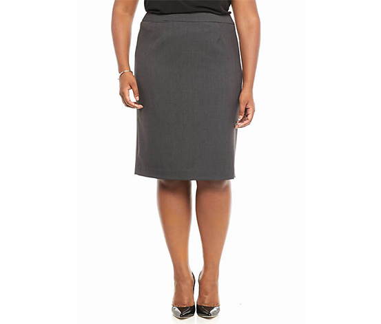 Calvin Klein Plus Size Straight Skirt, Charcoal