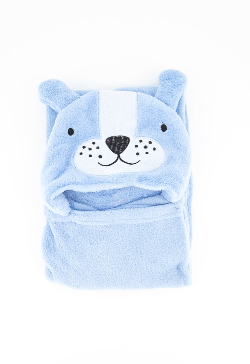 Baby Hooded Plush Blanket, Blue