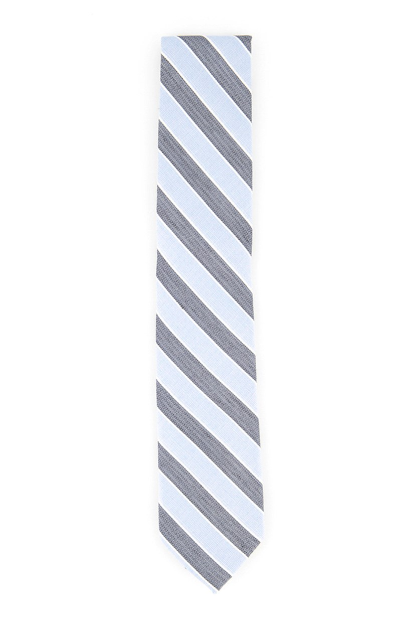Men Seville Seasonal Stripe Slim Tie, Med Blue