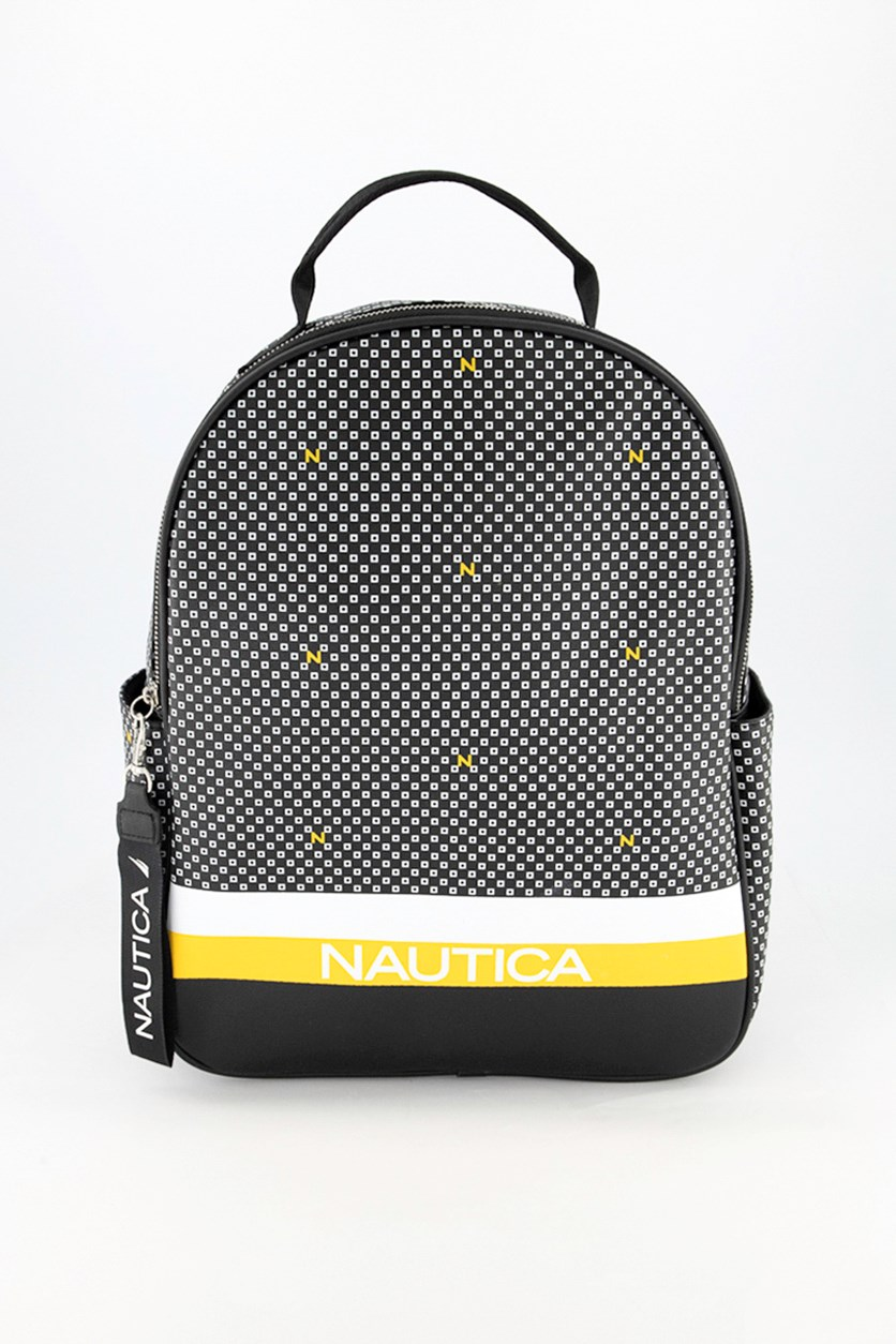Women's Printed Backpack, Black Combo