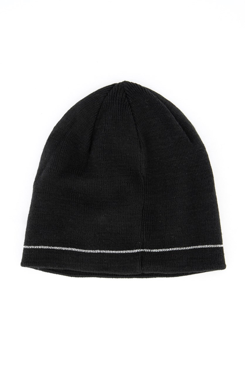 Men's Reflective Beanie, Black