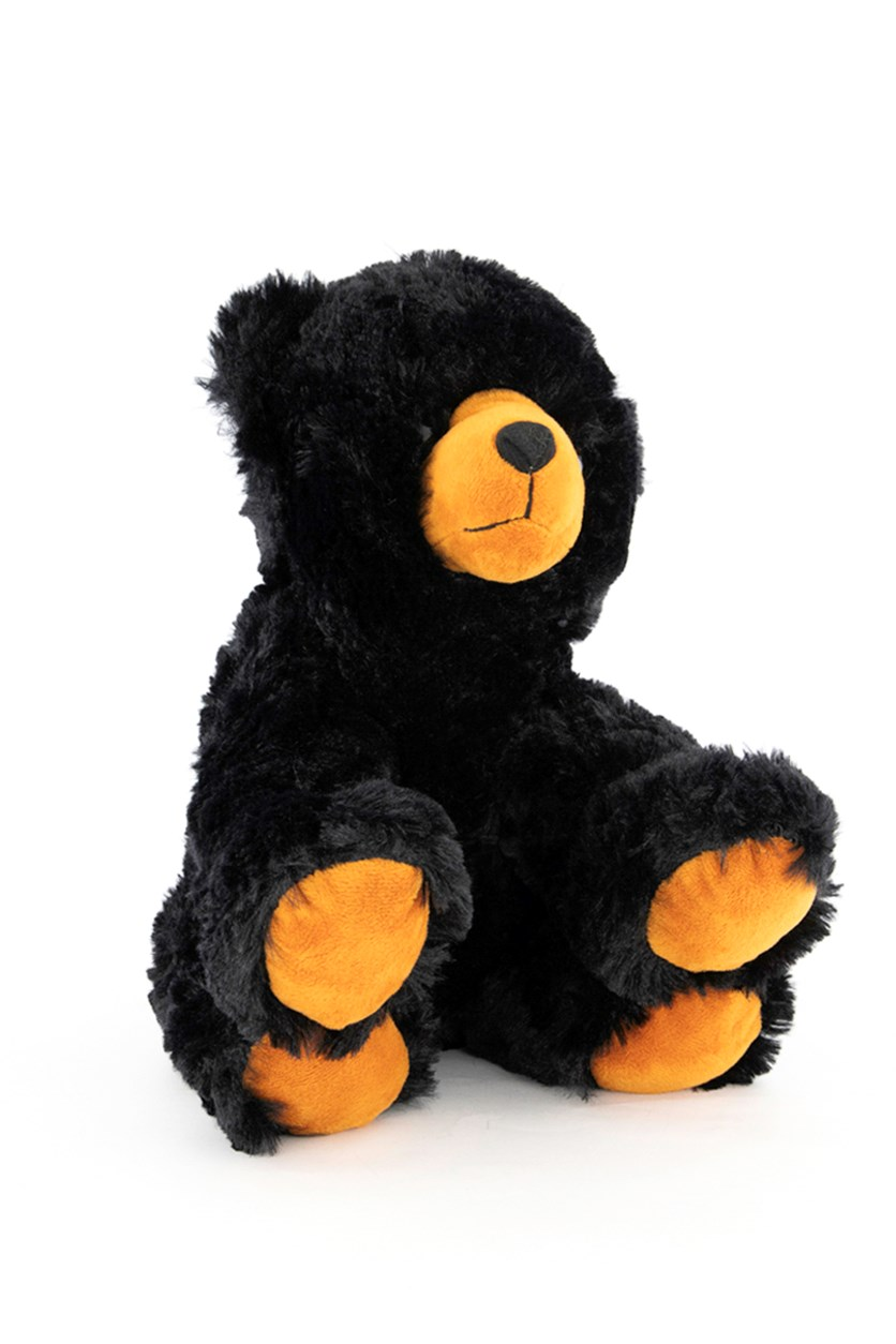 Stuffed Animal Teddy Bear, Black/Orange