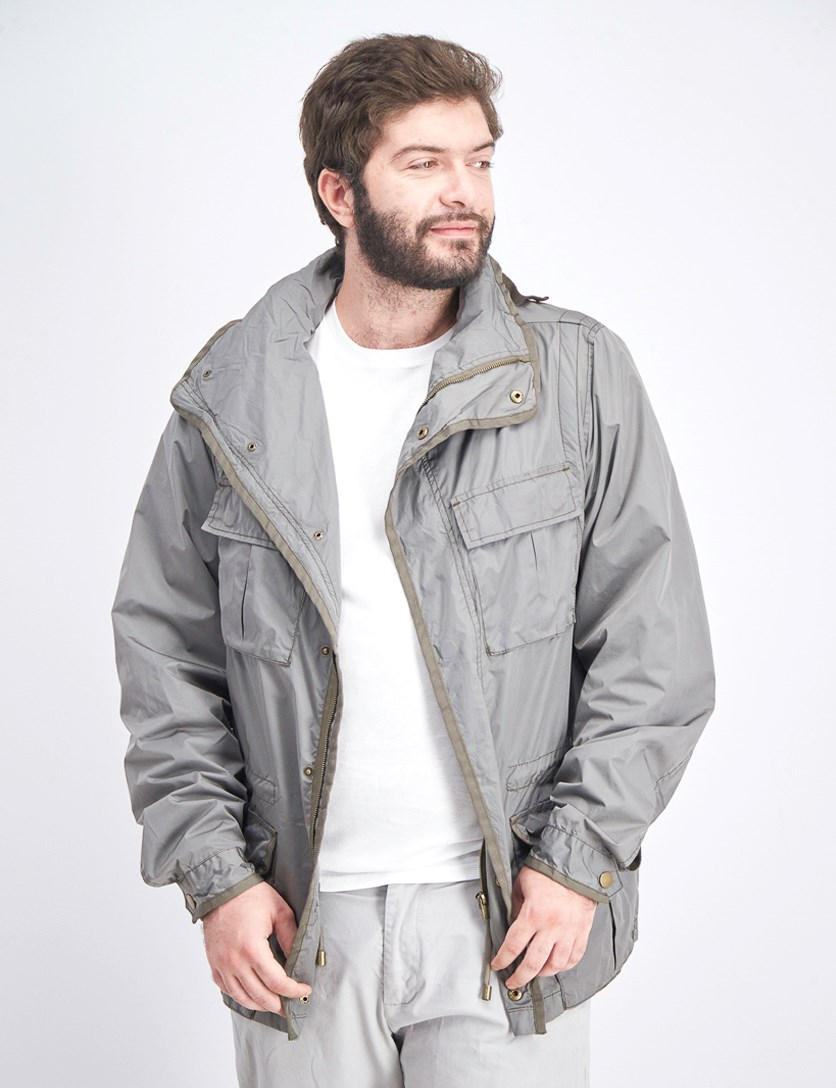 Men's Windbreaker Jacket, Smoke