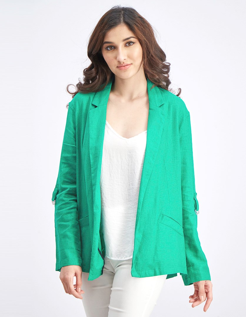 Women's 3/4 Sleeves Blazer, Green