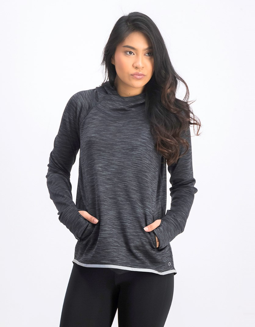 Women's Hooded Sweaters, Charcoal