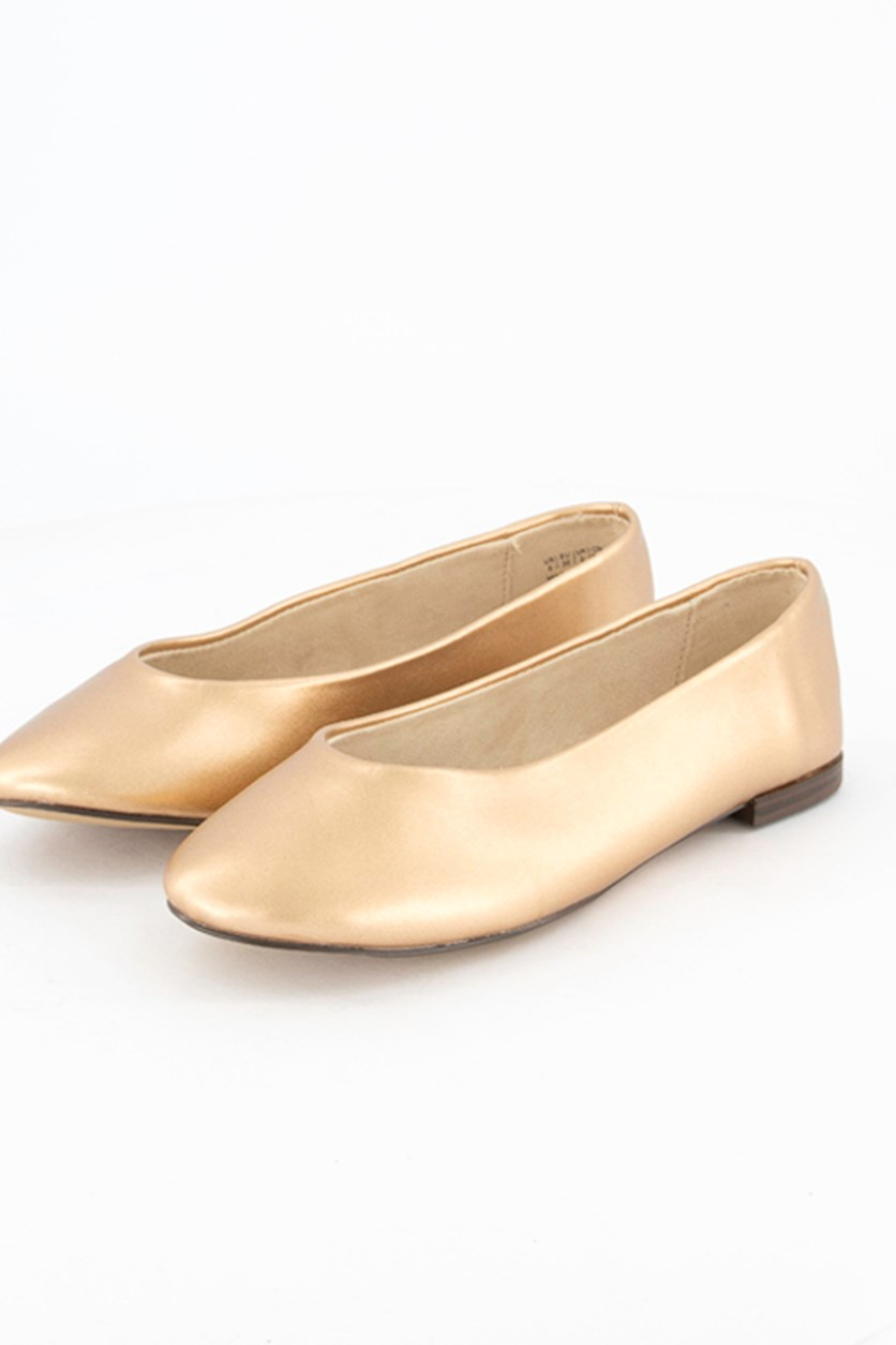 Women's Flat Shoes, Rose Gold