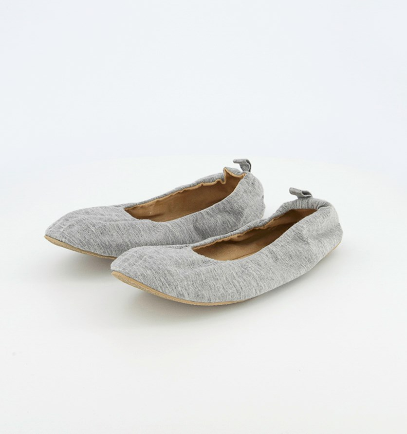 Women's Flat Shoes, Heather Grey