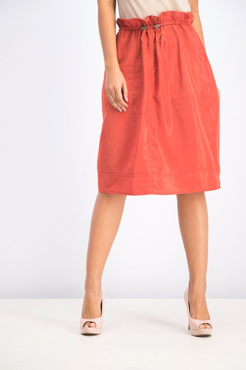 Women's Slant Pocket Skirt, Rust