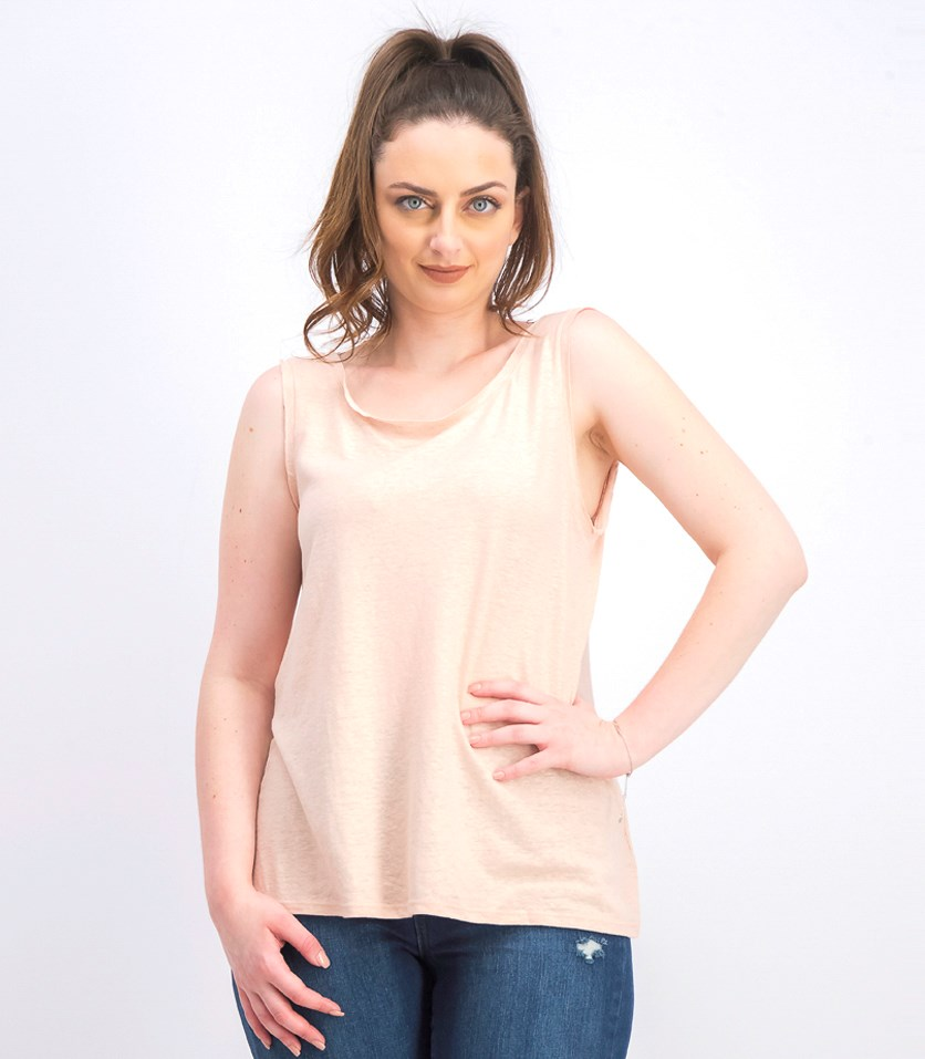 Women's Metallic Tank Top, Blush