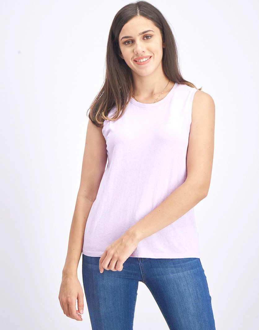 Women's Plain Tank Top, Lilac