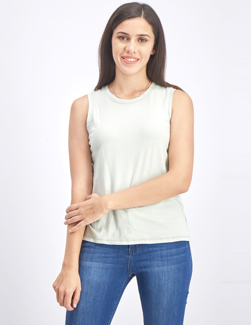 Women's Plain Tank Top, Mint Green