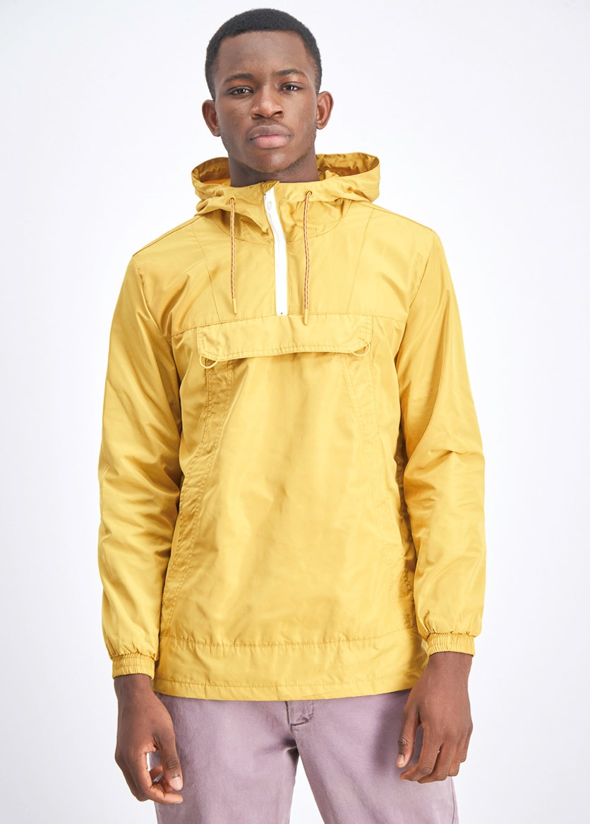 Men's Hooded Bomber Jacket, Yellow