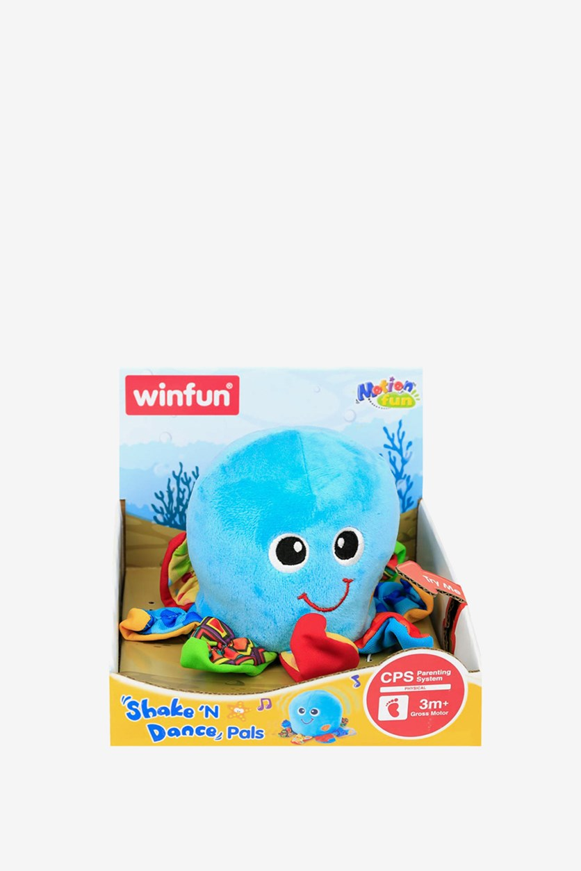 Shake and Dance Octopus Toy, Blue