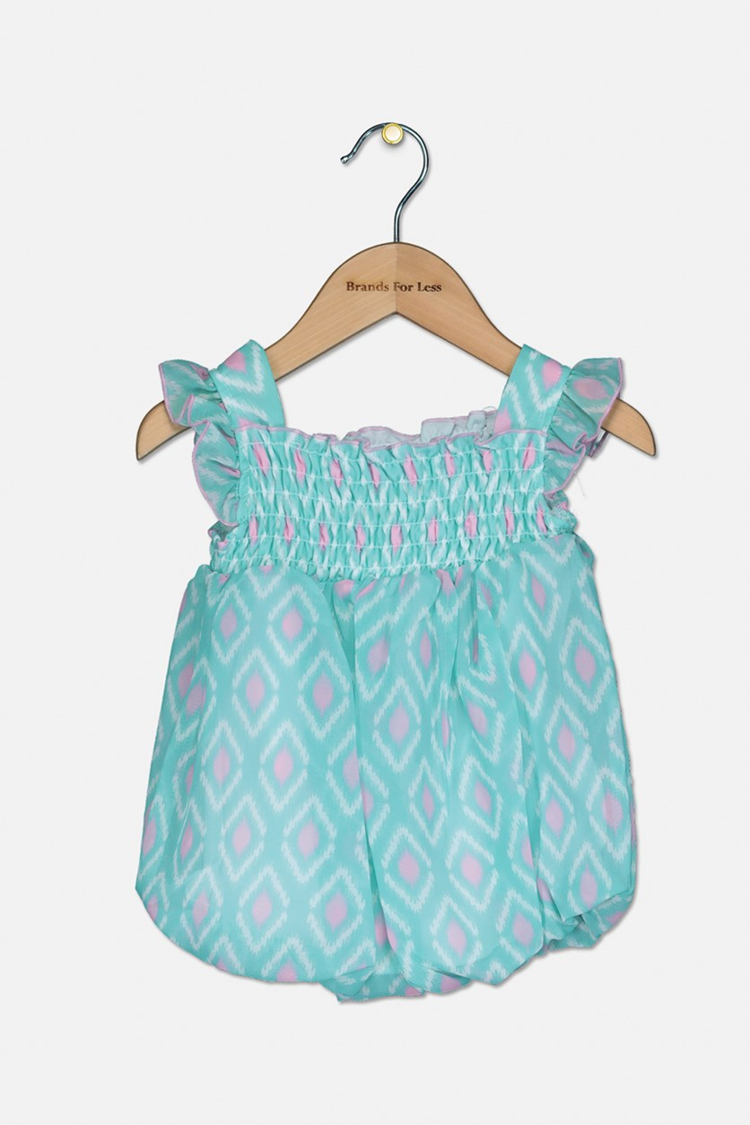 Baby Girl's Romper Dress, Mint Green