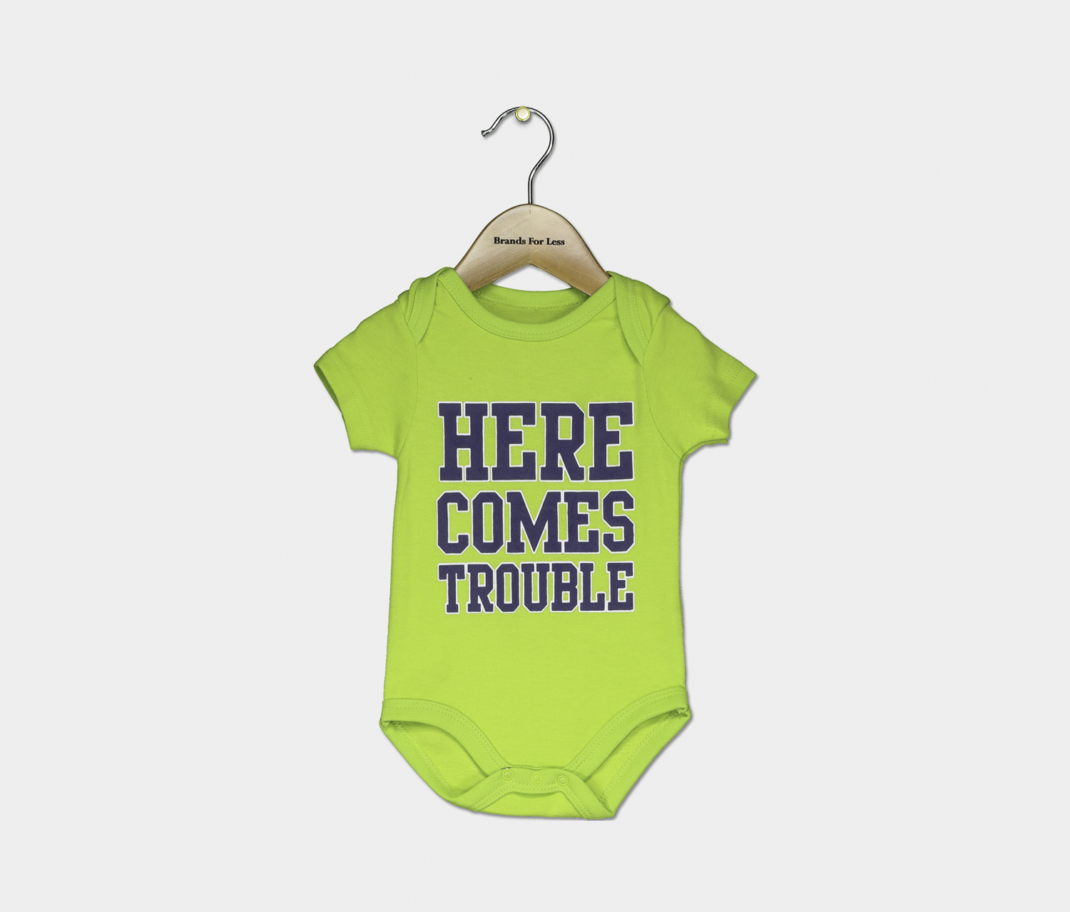 Toddler's Graphic Print Romper, Lime Green