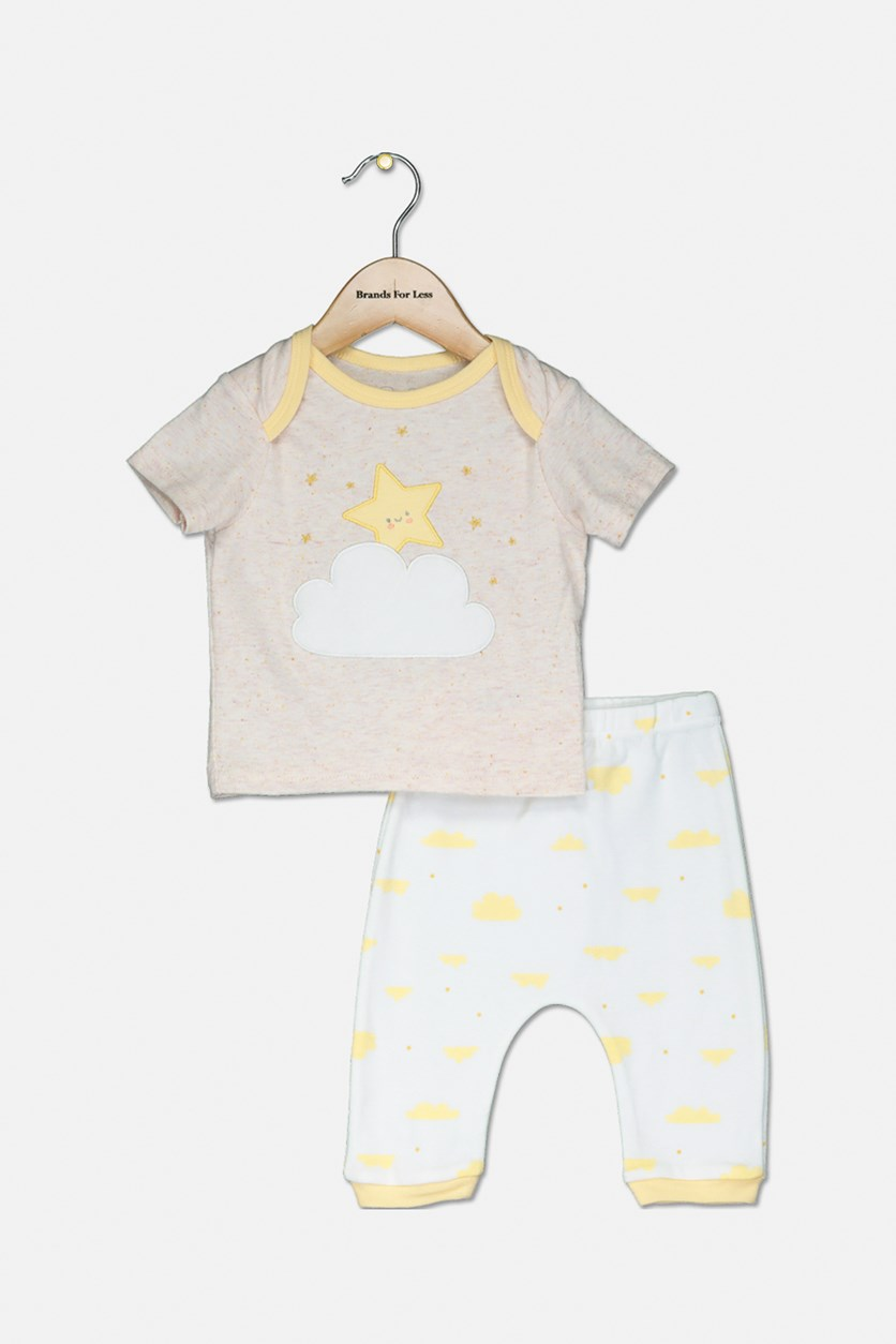 Toddlers Tops & Pajama Set, White/Blush