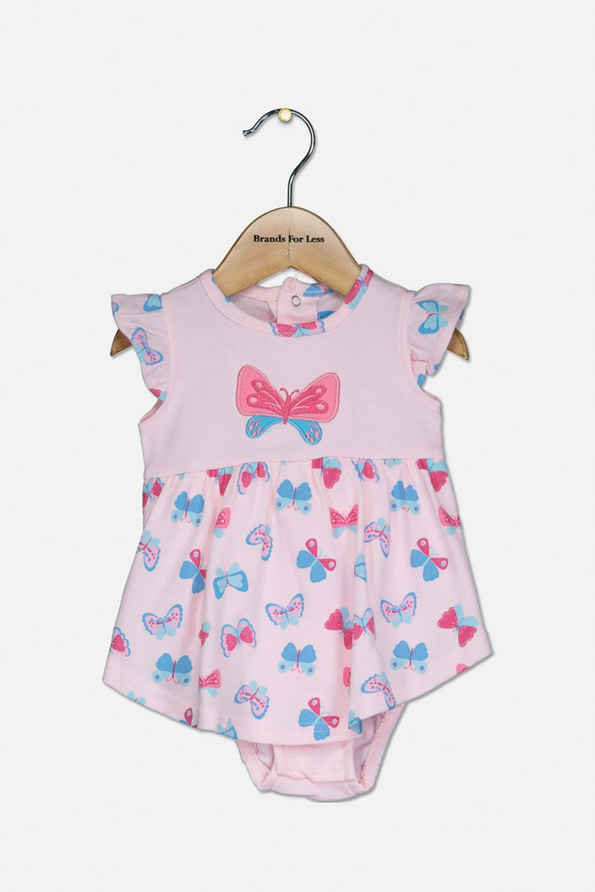 Toddler's Butterfly Bodysuit, Pink