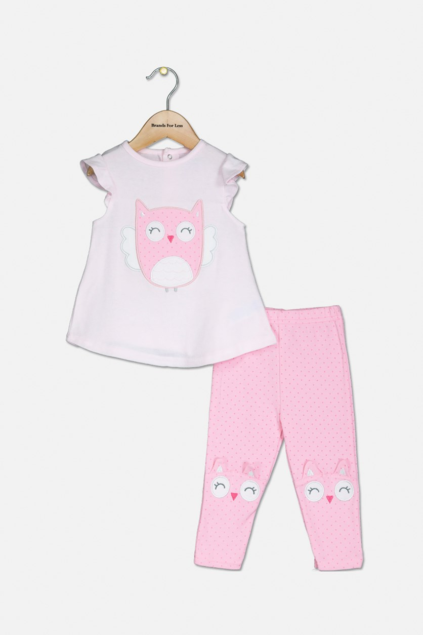 Toddler Girls  Dress And Leggings Set, Pink