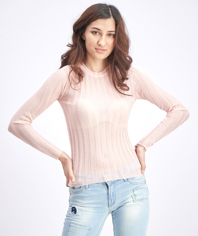 Women's Long Sleeve Tops, Peach