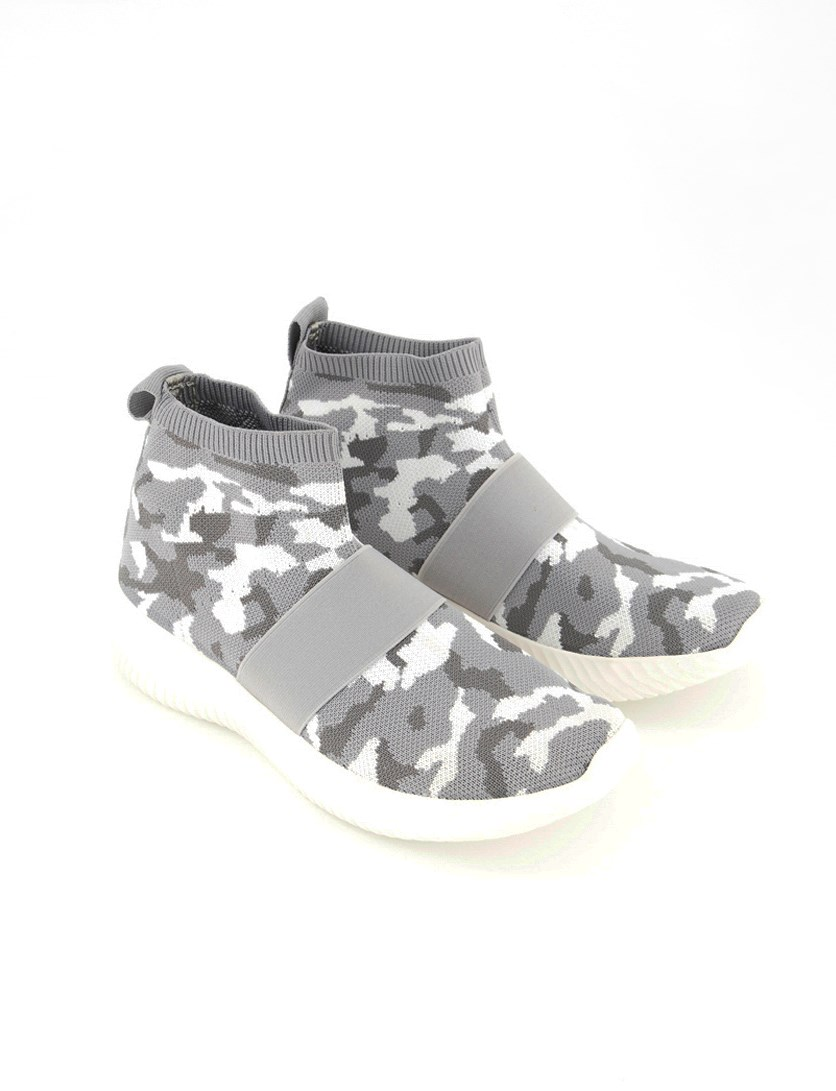 Women's Jasmine Woven Sneakers, Grey Camouflage