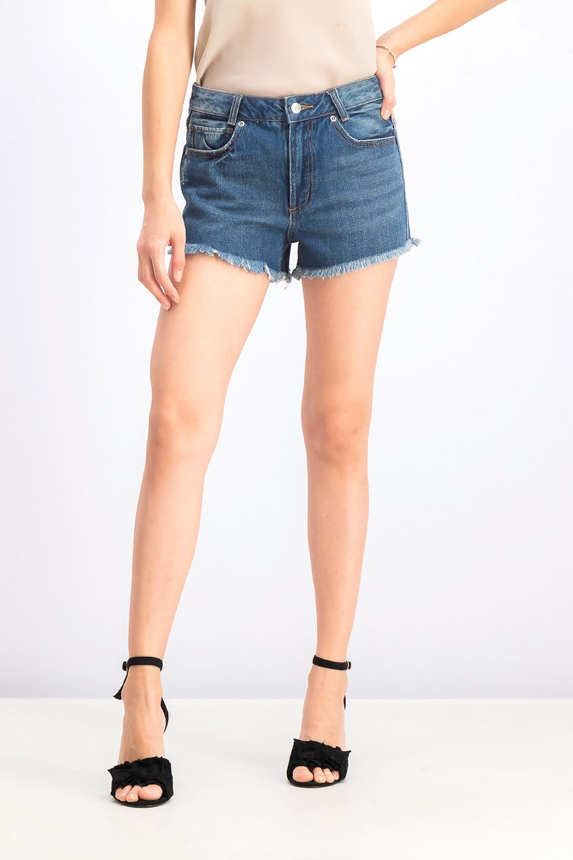 Women's High Waist Short, Blue
