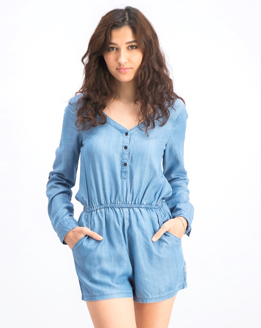Women's Mobile Romper, Chambray