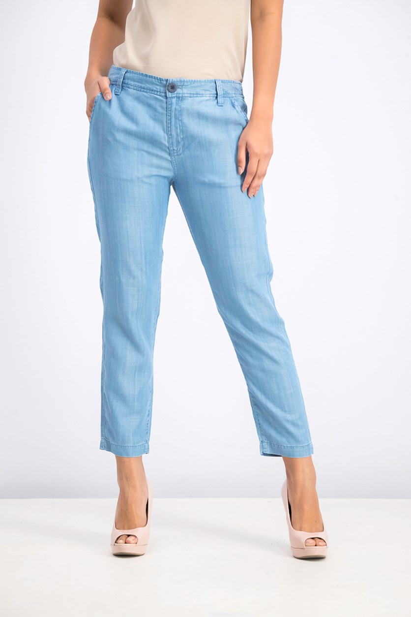 Women's Lowlanded Cropped Pant, Chambray