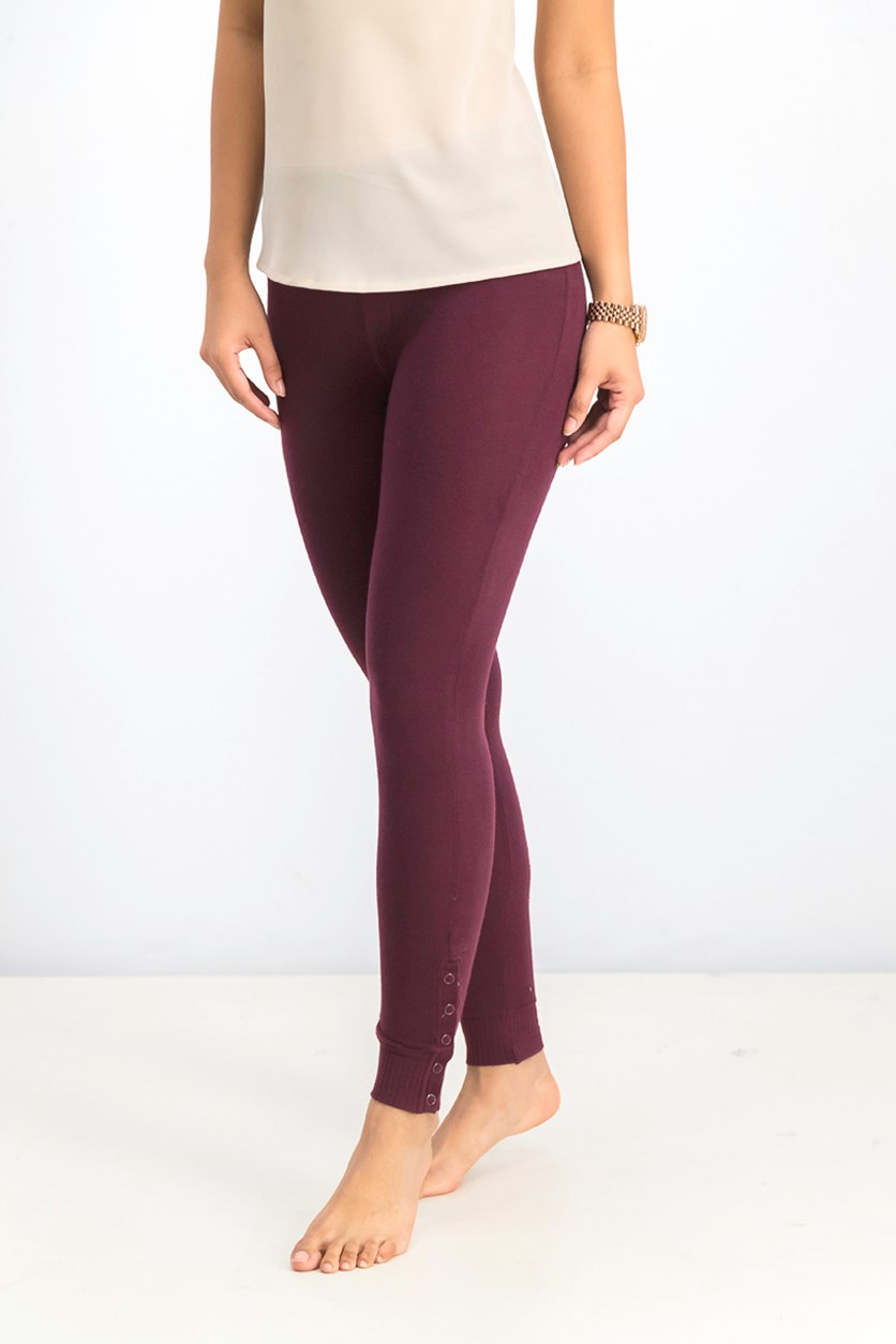 Women's Laid Back Legging, Burgundy