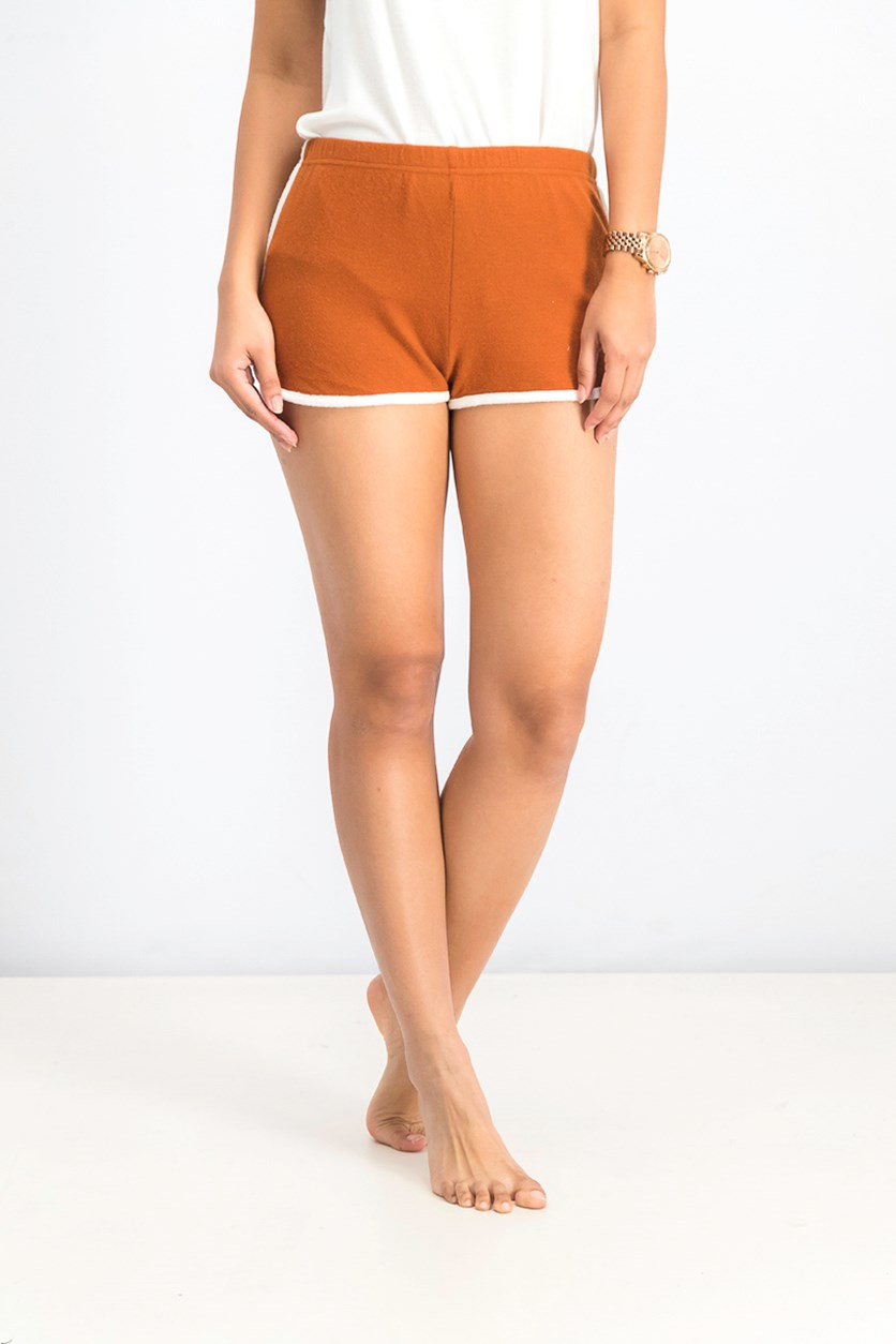 Women's The Fuzz Soft short, Brown/White