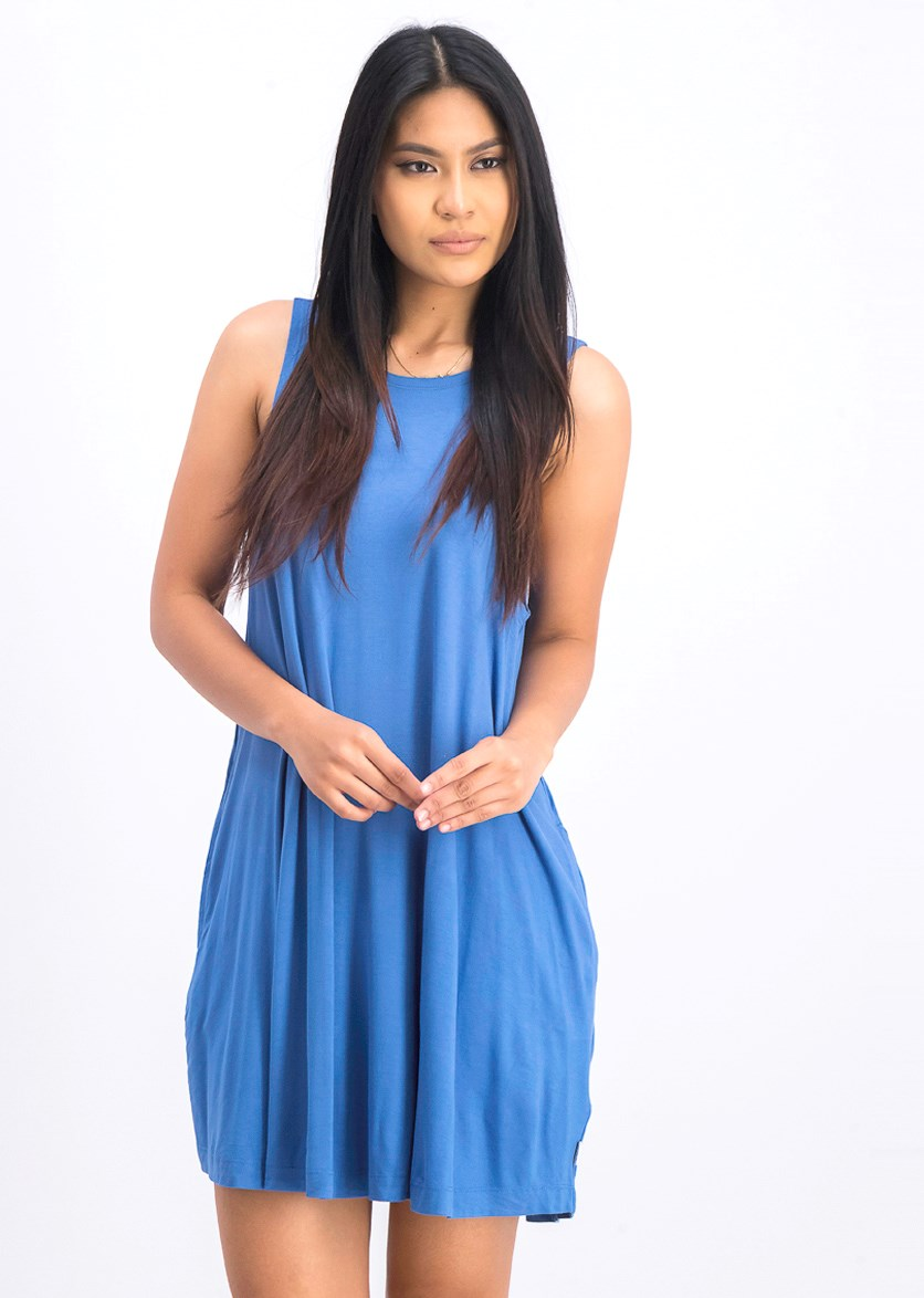 Women's Sucker Punch Swing Dress, Jade Blue