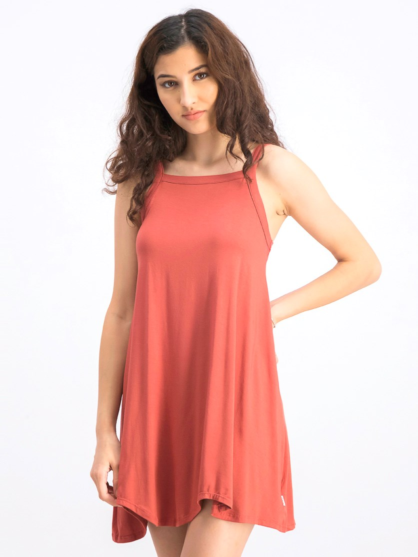 Women's Thievery Scalloped Tank Dress, Rustic Red
