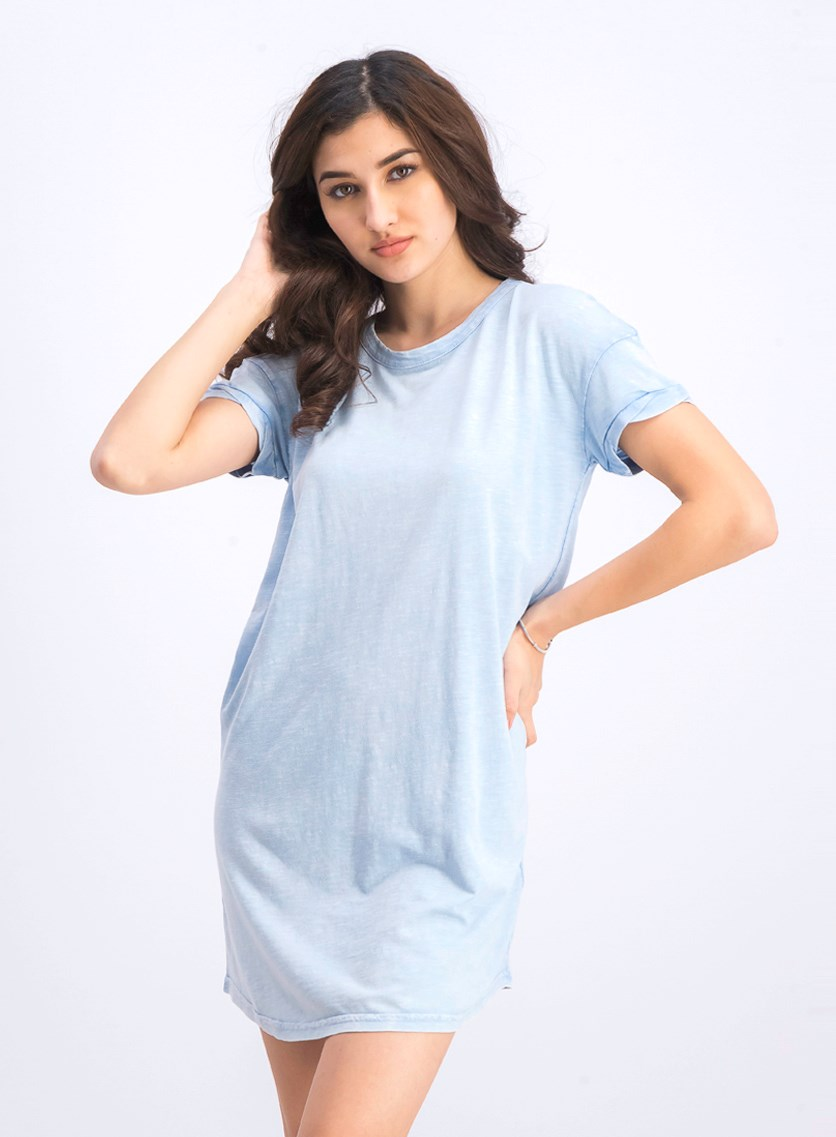 Women's Short Sleeve Dress, Sky