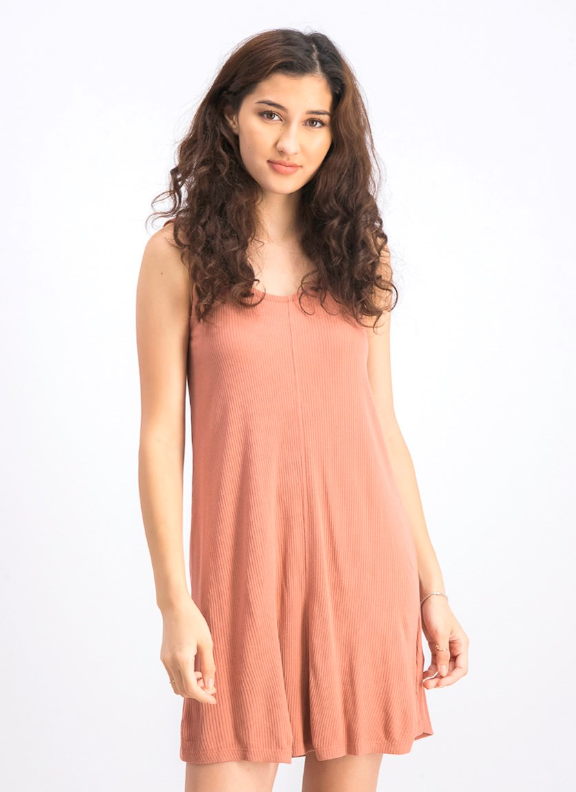 Women's Switchback Knit Tank Dress, Mahogany