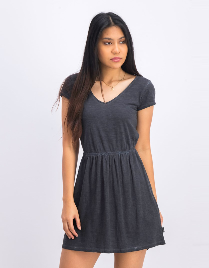 Women's Shifter Knit Dress, Black Washed