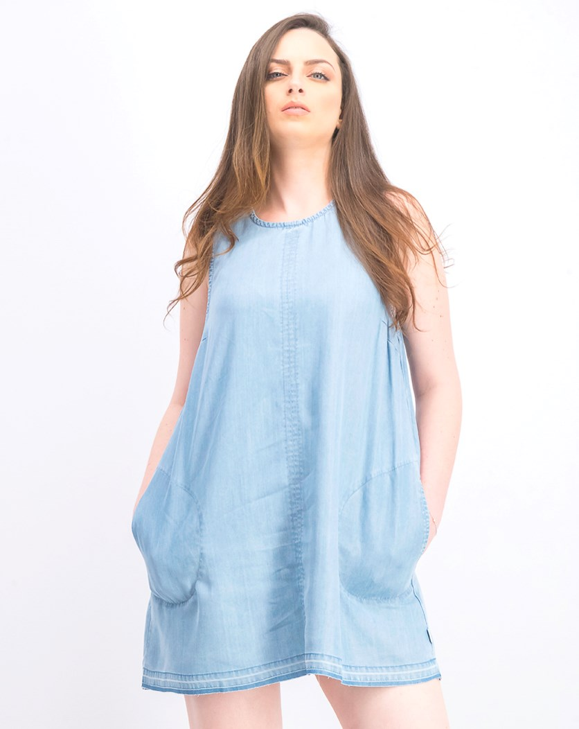 Women's Release Chambray Dress, Blue