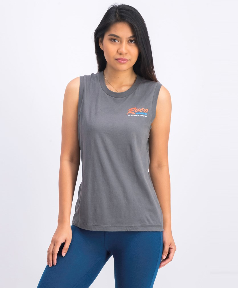 Women's Bonded Sleeveless T-Shirt, Gray