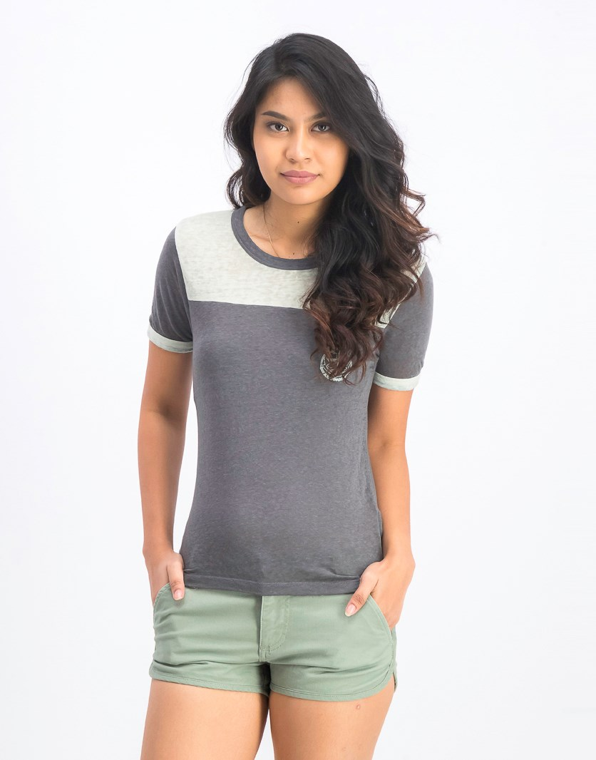 Women's Safe Harbor Ringer Tee, Green