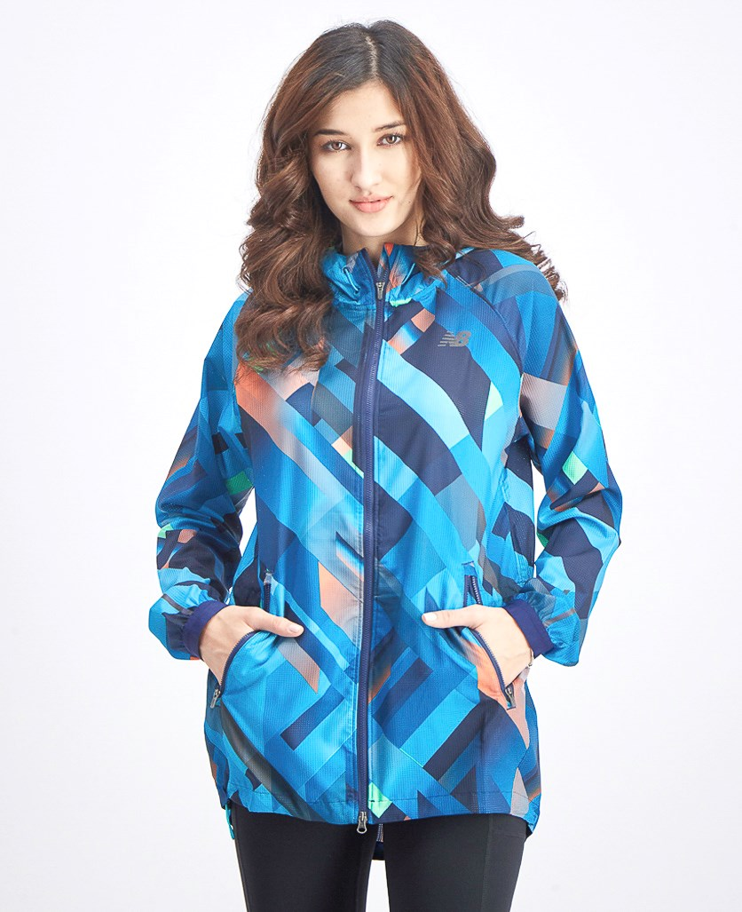 Women's Deep Ozone Plaid Hybrid Jacket, Blue Combo