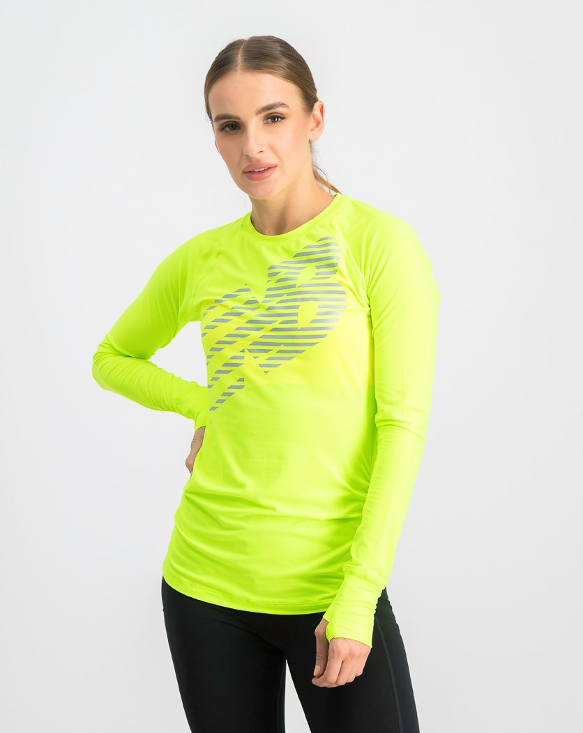 Women's Sport Longsleeves Top, Lime Green
