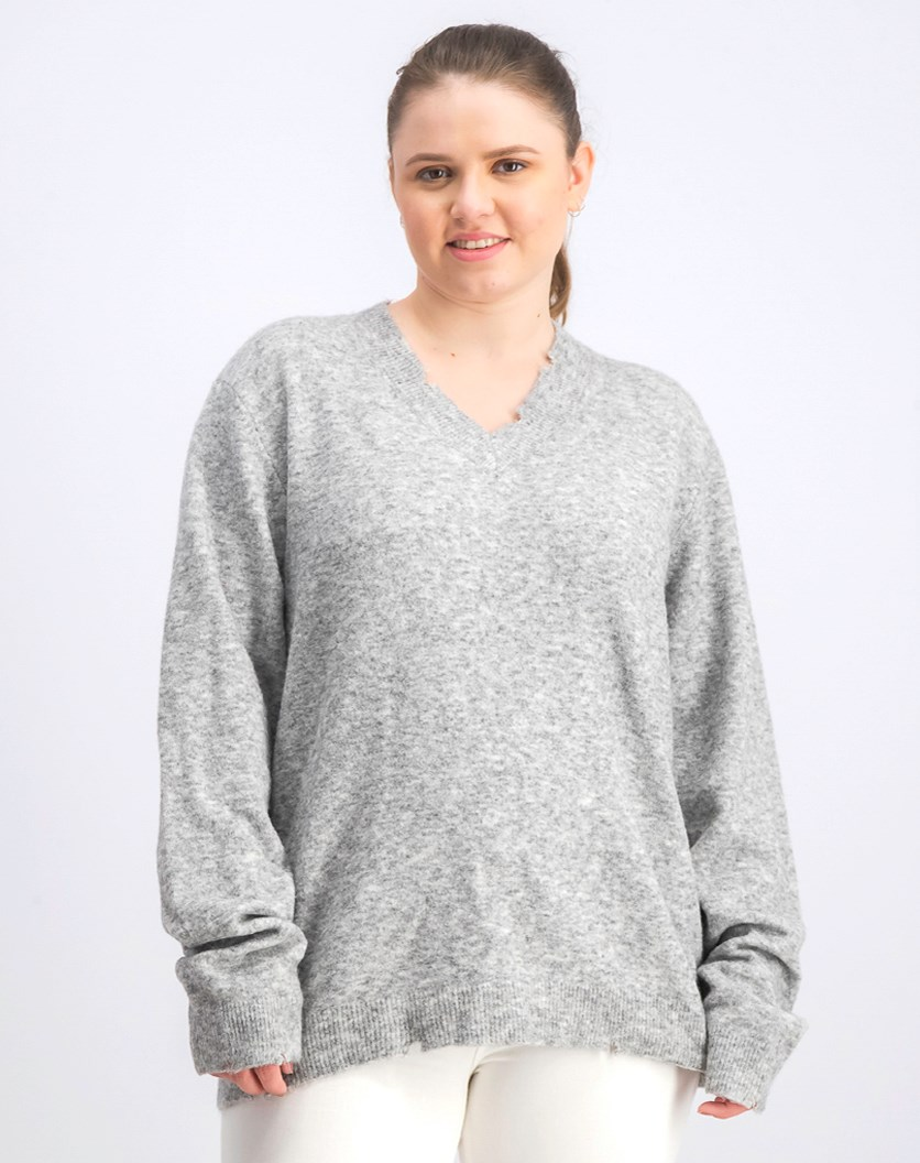 Women's Sweatshirt, Heather Grey
