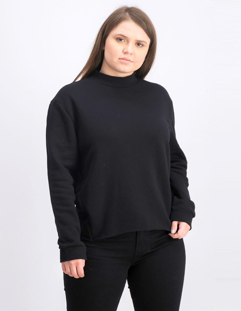 Women's Open Back Sweatshirt, Black