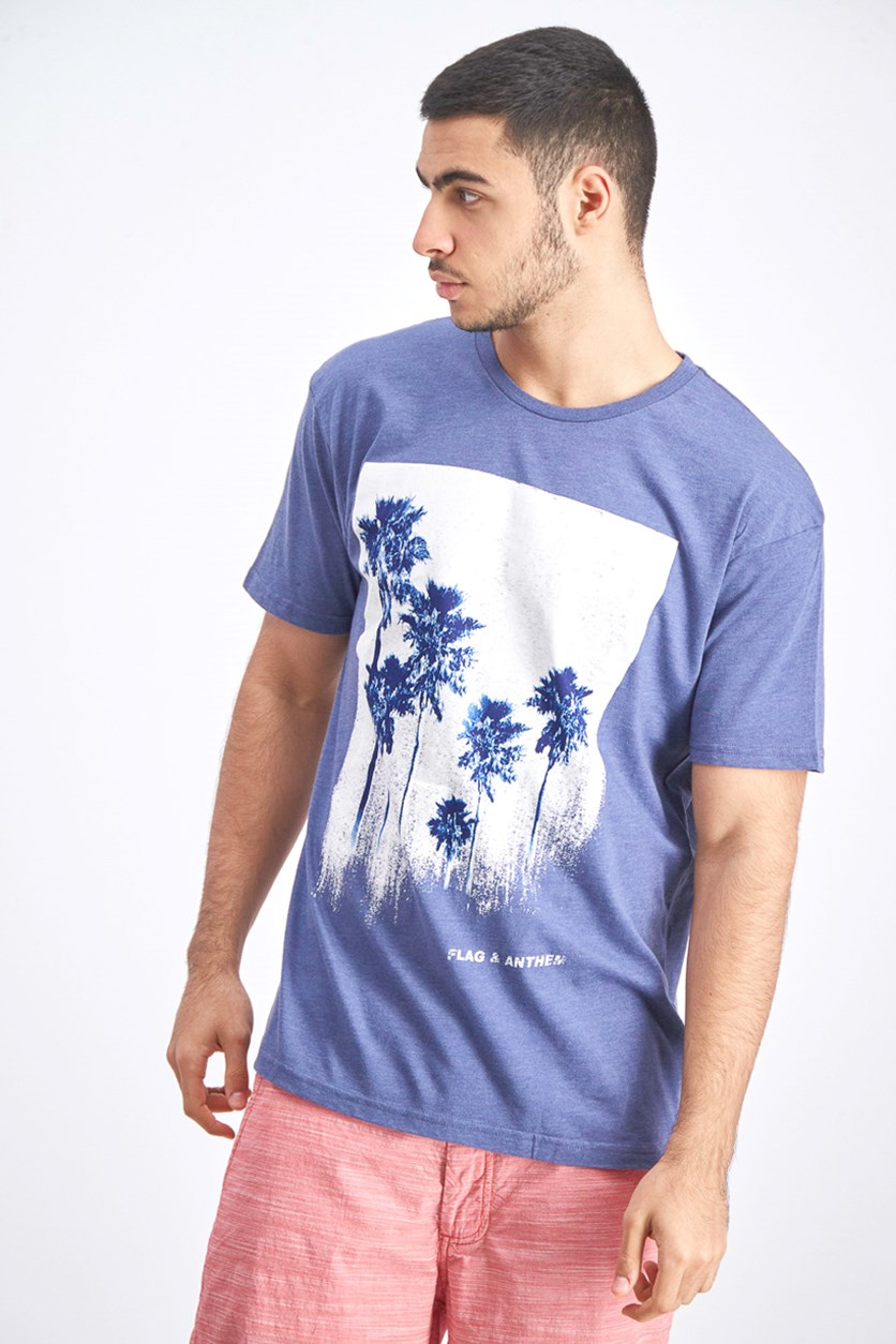 Painted Palm Graphic Tee, Navy