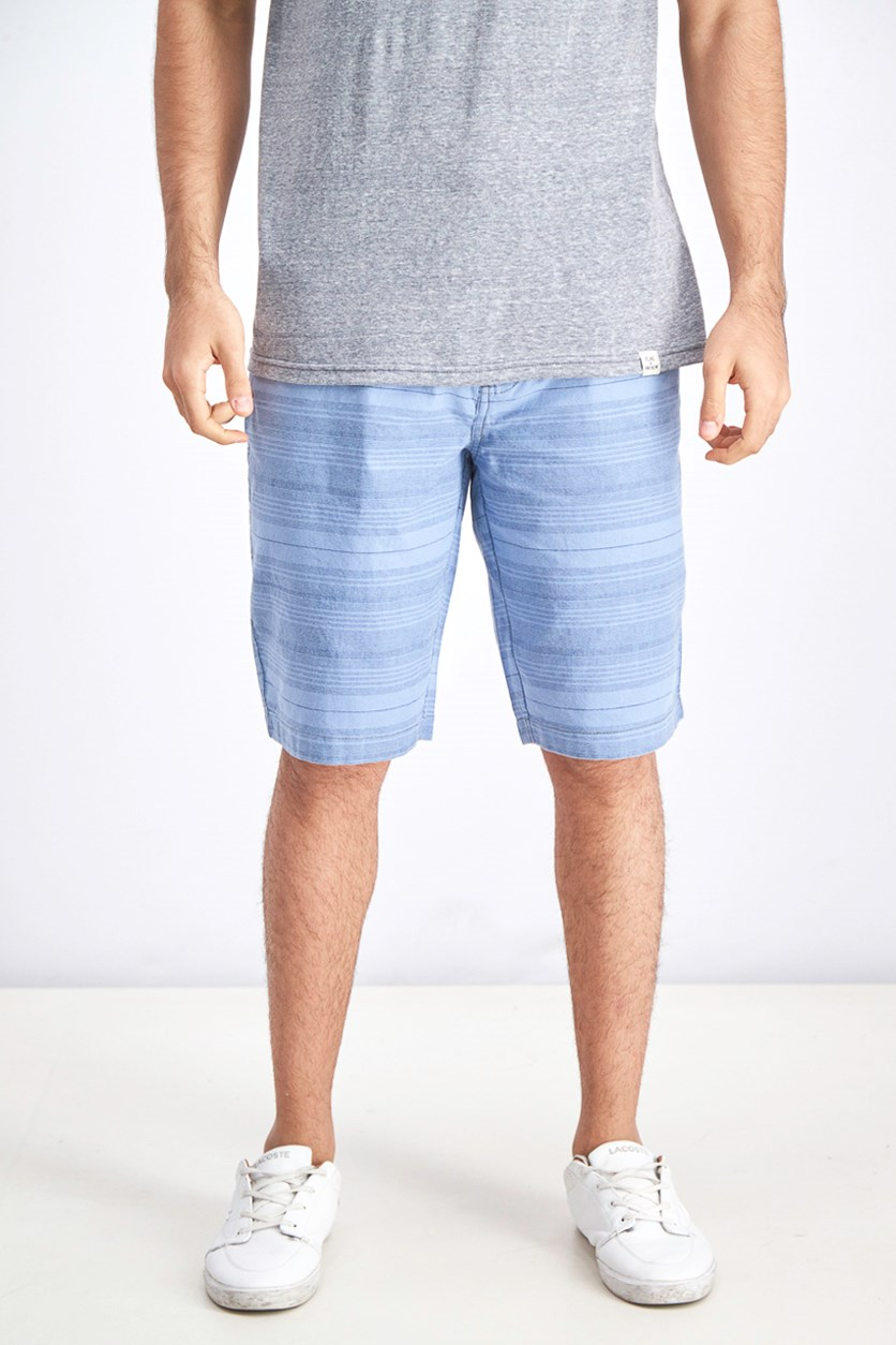 Men's Flat Front Stripe Shorts, Cobalt