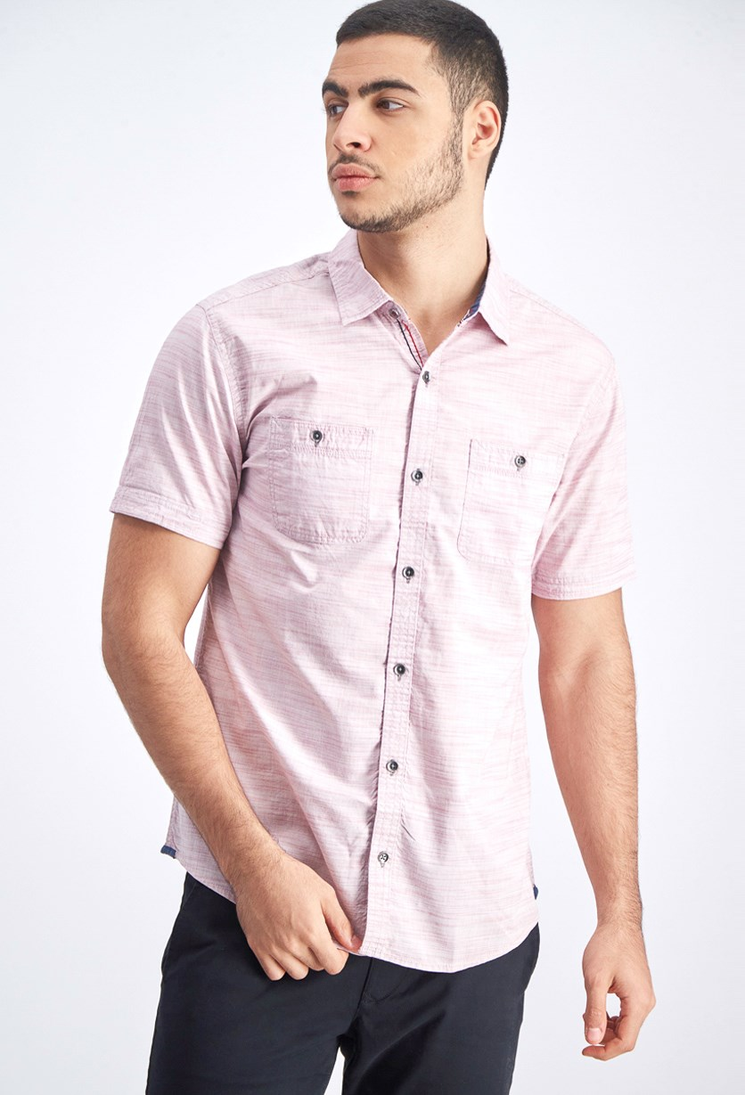 Men's Short Sleeve Shirt, Mauve