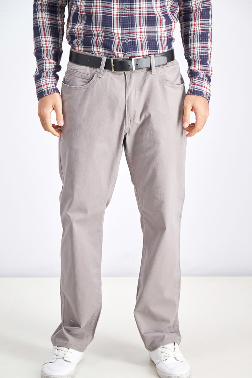 Men Chino Pants, Grey