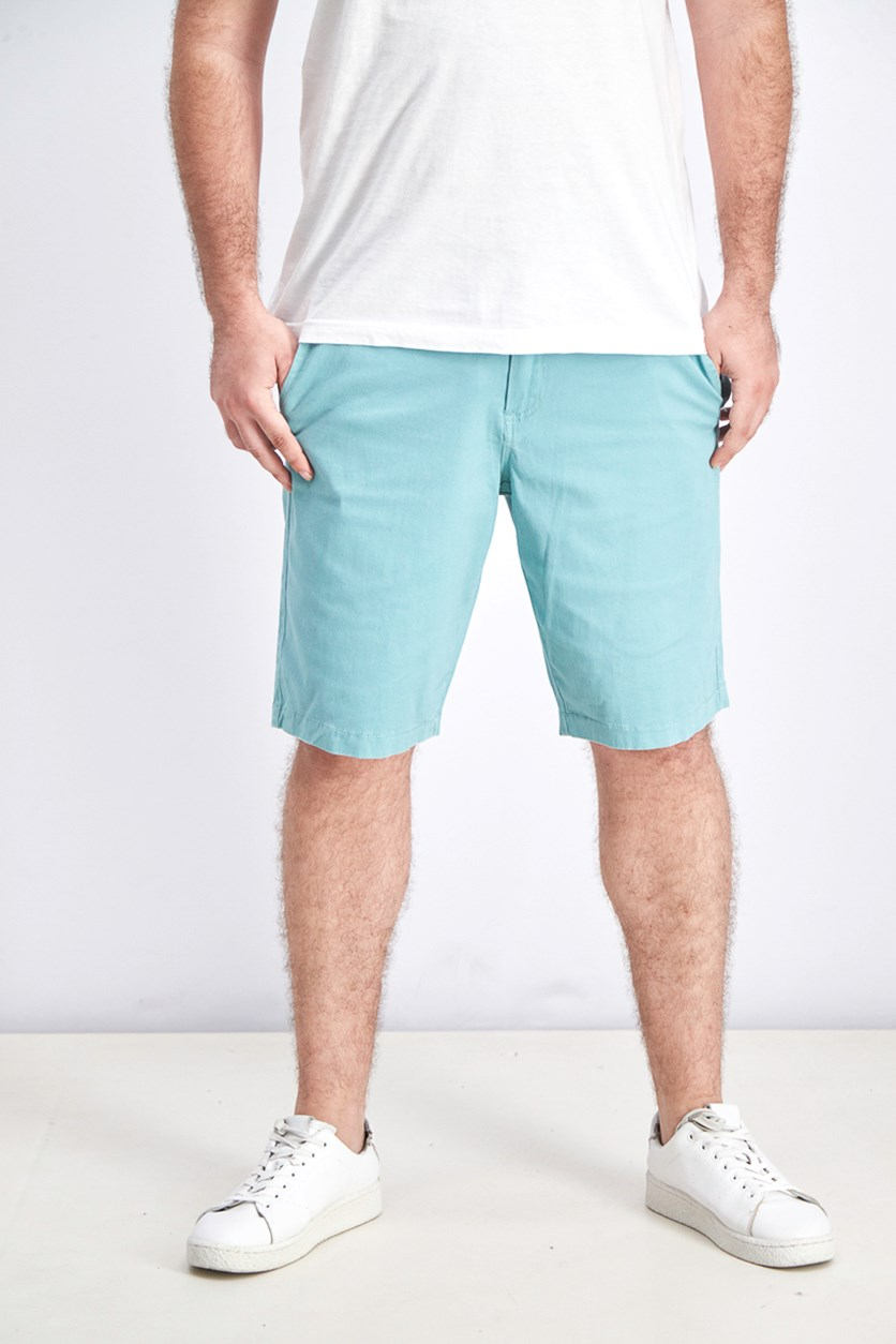 Men's Memphis Stretch Shorts, Dark Mint