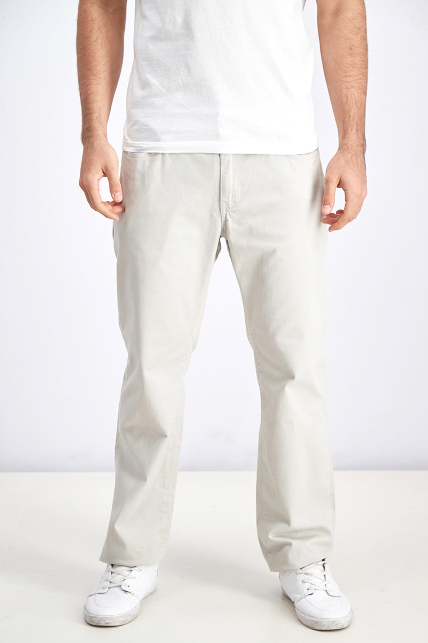 Men Chino Pants, Silver/Beige