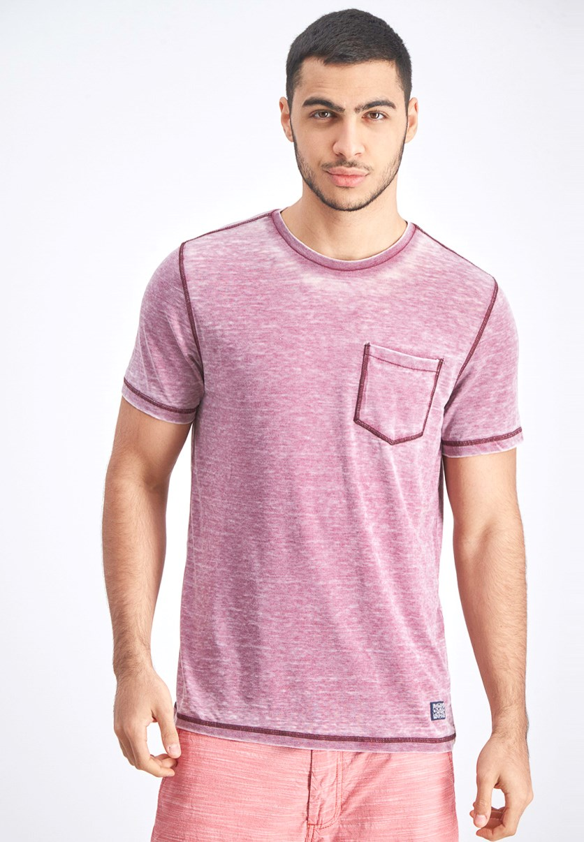 Men's Burnout Tee, Maroon