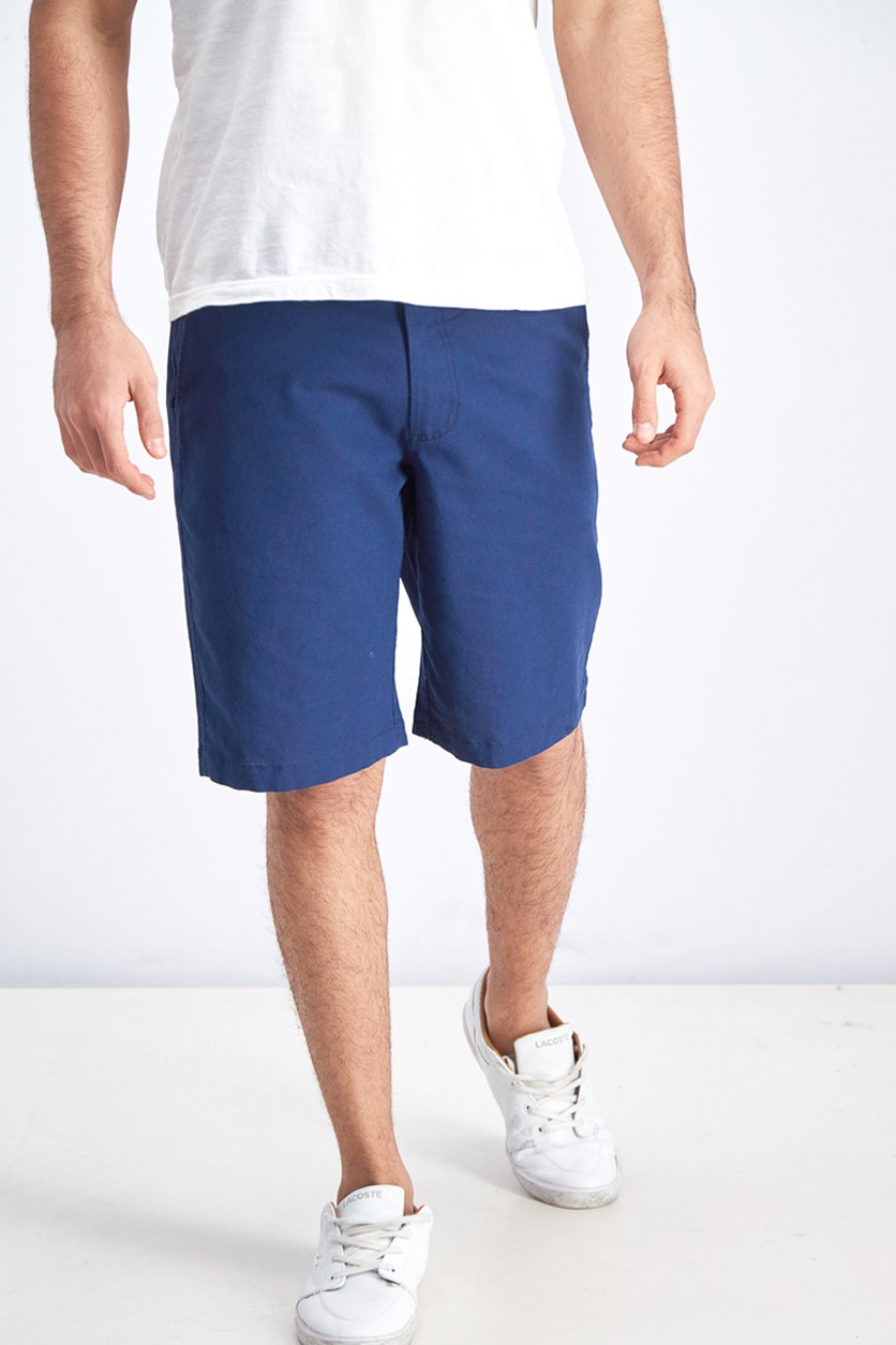 Men's Belt Loops Chino Short, Navy