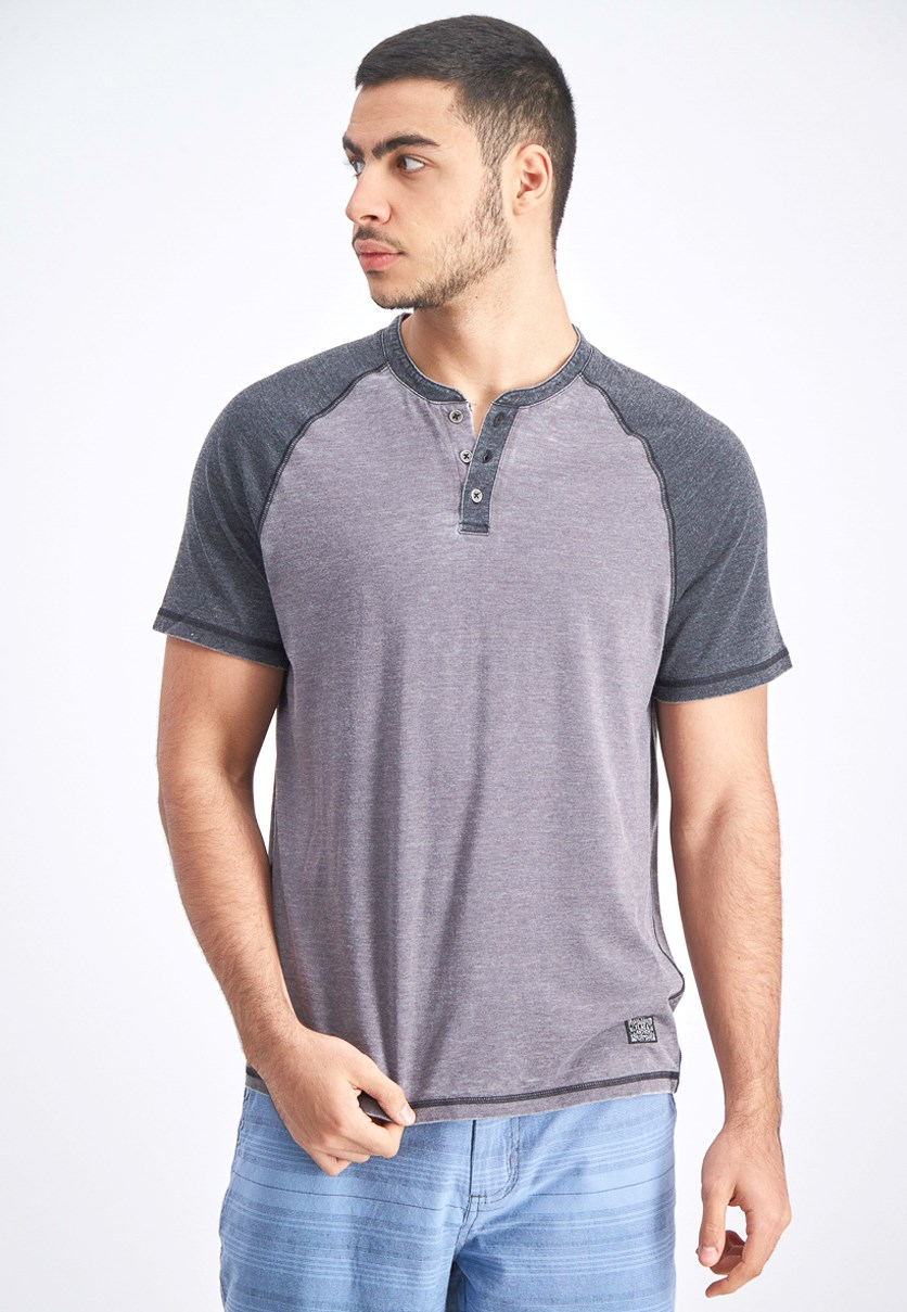 Men's Burnout Tee, Grey Combo